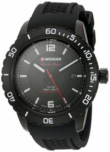 f7c0fef7a0 ... [ウェンガー]Wenger 'Roadster' Swiss Quartz Stainless Steel and Silicone  Automatic 01.0851.