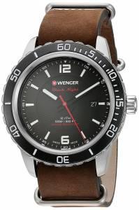 [ウェンガー]Wenger 'Roadster' Swiss Quartz Stainless Steel and Leather Automatic 01.0851.121