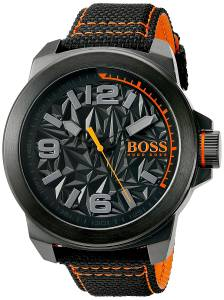 [ヒューゴボス]HUGO BOSS BOSS Orange 'NEW YORK' Quartz Resin and Canvas Casual Watch, 1513343