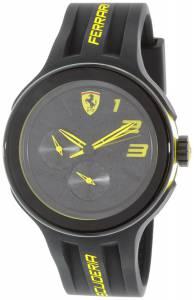 [フェラーリ]Ferrari 腕時計 Scuderia Black Silicone Quartz Watch 0830224 メンズ