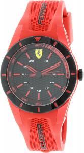 [フェラーリ]Ferrari 腕時計 Redrev Red Silicone Quartz Watch 0840005 メンズ