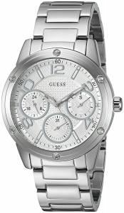 [ゲス]GUESS 腕時計 Classic Sport SilverTone MultiFunction Watch U0778L1 レディース