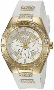 [ゲス]GUESS  U0753L3 MutliFunction Watch with Comfortable White Silicone Strap U0653L3