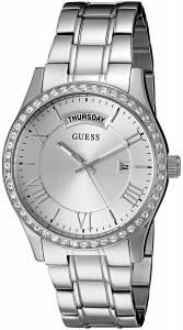 [ゲス]GUESS  Quartz Stainless Steel Casual Watch, Color:SilverToned U0764L1 レディース