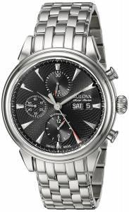 [ブローバ]Bulova  'Gemini' Swiss Automatic Stainless Steel Casual Watch 63C113 メンズ