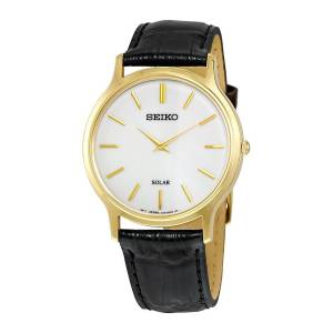 SEIKO Men's Solar Classic Leather Strap Watch SUP872P1 《並行輸入品》