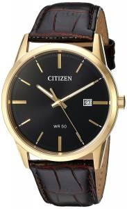 [シチズン]Citizen  Quartz Stainless Steel and Leather Casual Watch, Color:Brown BI5002-06E