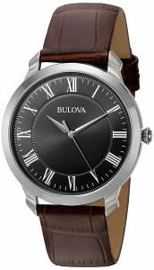 [ブローバ]Bulova  Quartz Stainless Steel and Brown Leather Dress Watch 96A184 メンズ