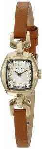 [ブローバ]Bulova  Quartz Stainless Steel and Brown Leather Dress Watch 97L153 レディース