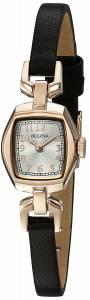 [ブローバ]Bulova  Quartz Stainless Steel and Brown Leather Dress Watch 97L154 レディース
