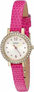 [ゲス]GUESS 腕時計 Petite Hot Pink Watch with GoldTone Case U0735L3 レディース