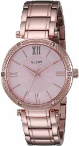 [ゲス]GUESS 腕時計 Feminine Rose GoldTone Watch with Light Pink Dial U0636L2 レディース