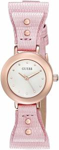 [ゲス]GUESS  U0736L6 Feminine Pink BowTie Watch with Genuine Leather Strap U0736L5