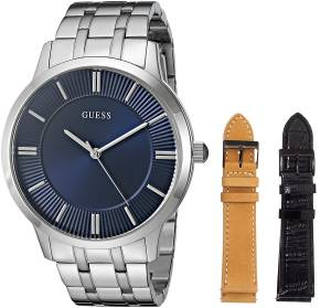 [ゲス]GUESS 腕時計 Classic Interchangeable Wardrobe Watch Set with Blue Dial U0726G2 メンズ