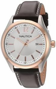 [ノーティカ]Nautica 'NCC 03' Quartz Stainless Steel and Leather Casual Watch, NAD11527G