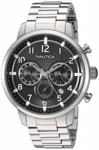 [ノーティカ]Nautica 'NCT 15 CHRONO' Quartz Stainless Steel Casual Watch, Color:Black NAD18510G