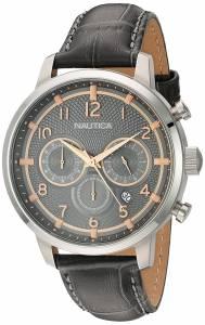 [ノーティカ]Nautica 'NCT 15 CHRONO' Quartz Stainless Steel and Leather Casual Watch, NAD16524G
