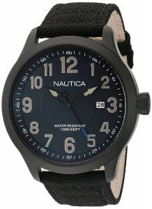 [ノーティカ]Nautica 'NCC 01 DATE' Quartz Stainless Steel and Nylon Casual Watch, NAD11515G