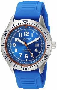 [ノーティカ]Nautica 'NSR 105' Quartz Stainless Steel and Silicone Casual Watch, NAD12535G