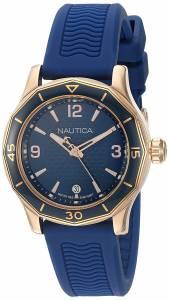 [ノーティカ]Nautica 'NCC 03' Quartz Stainless Steel and Leather Casual Watch, NAD11528G