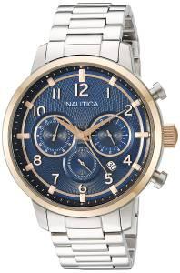 [ノーティカ]Nautica 'NCT 15 CHRONO' Quartz Stainless Steel Casual Watch, NAD19537G