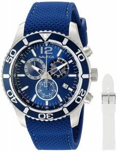 [ノーティカ]Nautica 'NST 09' Quartz Stainless Steel and Leather Casual Watch, NAD16551G
