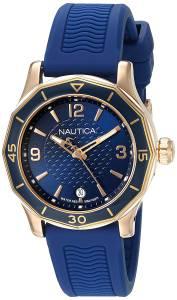 [ノーティカ]Nautica 'NWS 01' Quartz Stainless Steel and Silicone Casual Watch, NAD13525L
