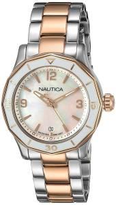 [ノーティカ]Nautica 'NWS 01' Quartz Stainless Steel Casual Watch, Color:SilverToned NAD19544L