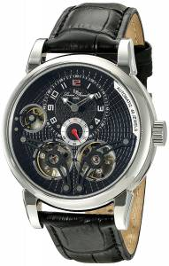 [ルシアン ピカール]Lucien Piccard 'Cosmos' Automatic Stainless Steel and Black LP-15071-01
