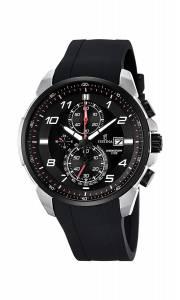 フェスティナ Festina CHRONO Men's Quartz Watch with Black Dial Chronograph Display and F6841/4