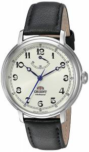 オリエント Orient Men's 'Monarch' Mechanical Hand Wind Stainless Steel and Leather FDD03003Y0