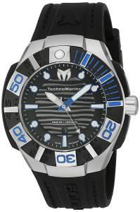 [テクノマリーン]TechnoMarine 'Black Reef' Swiss Quartz Stainless Steel Casual Watch TM-515011