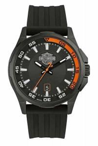 [ブローバ]Bulova  HarleyDavidson Dashboard B&S Watch, Stainless Steel/Silicone Strap 78B140