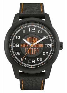 [ブローバ]Bulova  HarleyDavidson Bar & Shield Script Watch, Stainless Steel, Black 78A116