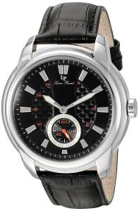 [ルシアン ピカール]Lucien Piccard 'Duval' Quartz Stainless Steel and Leather LP-40032-01