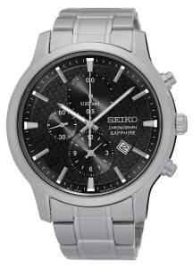 [セイコー]Seiko Watches  Seiko Quartz SNDG67 Black Dial Stainless Steel Band Watch Chronograph