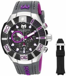 [テクノマリーン]TechnoMarine  Black Reef Analog Display Swiss Quartz Black Watch TM-515017
