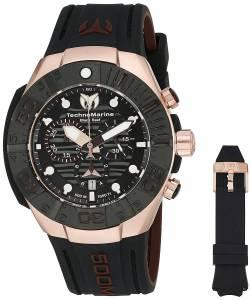 [テクノマリーン]TechnoMarine 'Black Reef' Swiss Quartz Stainless Steel Casual Watch TM-515019
