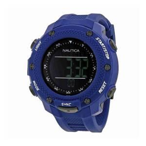 [ノーティカ]Nautica 腕時計 NMX 15 Black Digital Dial Blue Rubber Watch NAI19524G メンズ