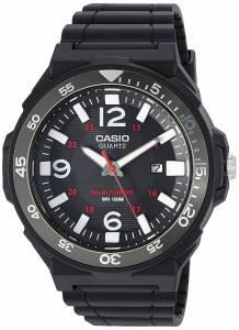 [カシオ]Casio 腕時計 'Solar Powered' Quartz Resin Watch, Color:Black MRWS310H-1BV メンズ