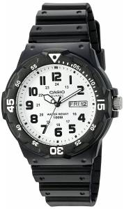 [カシオ]Casio 腕時計 'Classic' Quartz Resin Watch, Color:Black MRW200H-7BV メンズ