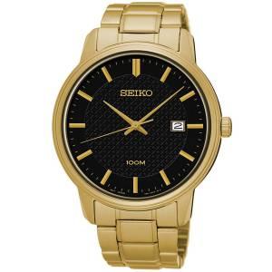 [セイコー]Seiko Watches  Seiko SUR200 Gold Tone Stainless Steel Black Dial 100M Watch SUR200P