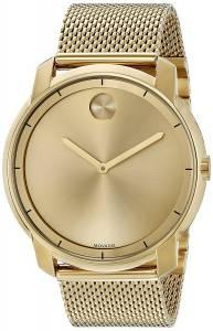 [モバード]Movado 腕時計 Swiss Quartz Tone and Gold Plated Watch 3600373 メンズ
