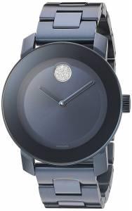 [モバード]Movado  Swiss Quartz Stainless Steel Watch, Color: Blue 3600388 レディース