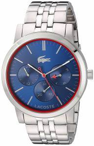 [ラコステ]Lacoste  'Metro' Quartz Stainless Steel Watch, Color:SilverToned 2010878