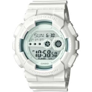 [カシオ]Casio GShock Whiteout Series All White Watch Resin Digital World Time GD100WW-7CS