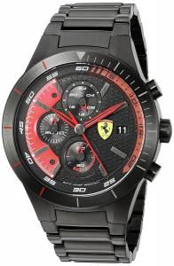 [フェラーリ]Ferrari 腕時計 830264 'RED REV EVO CHRONO' Quartz Resin Watch 0830264