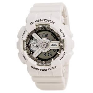 [カシオ]Casio  GShock White and Rose Dial Resin Quartz Watch GMAS110CM7A2 GMAS110CM-7A2CR