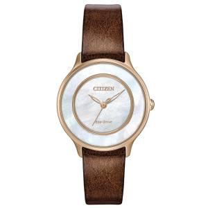 [シチズン]Citizen 腕時計 EcoDrive GoldTone MotherofPearl Watch EM0383-08D [逆輸入]