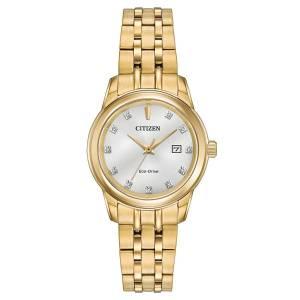 [シチズン]Citizen 腕時計 EcoDrive GoldTone Crystal Watch w/ Date EW2392-54A [逆輸入]
